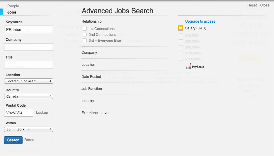 Find a job with LinkedIn